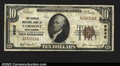 National Bank Notes:West Virginia, Fairmont, WV- $10 1929 Ty. 1 The Peoples NB Ch. # 9645...