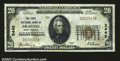 National Bank Notes:West Virginia, Grafton, WV- $20 1929 Ty. 1 The First NB Ch. # 2445...