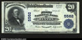 National Bank Notes:West Virginia, Hinton, WV- $20 1902 Plain Back Fr. 659 The First NB ...