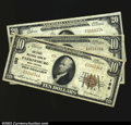 National Bank Notes:West Virginia, Parkersburg, WV- $10 1929 Ty. 1 The First NB Ch. # 180 ...