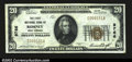 National Bank Notes:West Virginia, Romney, WV- $20 1929 Ty. 1 The First NB Ch. # 9766