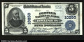 National Bank Notes:West Virginia, Rowlesburg, WV- $5 1902 Plain Back Fr. 602 The Peoples ...