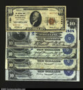 National Bank Notes:West Virginia, Five Wheeling Notes, including: