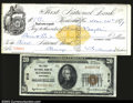 National Bank Notes:Wisconsin, Kenosha, WI- $20 1929 Ty. 1 The first NB Ch. # 212