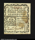 Colonial Notes:Connecticut, October 11, 1777, 3d, Connecticut, CT-215, CU. An uncancelled ...