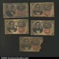 Fractional Currency:Group Lots, A miscellaneous lot of Fractional Currency, including four ...