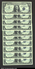 Small Size:Silver Certificates, A neat group of 10 consecutive Courtesy Autographed 1957B $1 ...