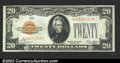 Small Size:Gold Certificates, 1928 $20 Gold Certificate, Fr-2402, Choice-Gem CU. Boldly ...