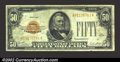 Small Size:Gold Certificates, 1928 $50 Gold Certificate, Fr-2404, Fine+. ...