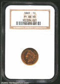 Proof Indian Cents: , 1869 1C PR 66 Red NGC. Mintage: 600. ...