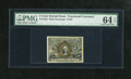 Fractional Currency:Second Issue, Fr. 1233 5c Second Issue PMG Choice Uncirculated 64 EPQ. This piece boasts solid margins and the 18-63 surcharge. The paper ...