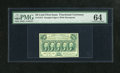 Fractional Currency:First Issue, Fr. 1312 50c First Issue PMG Choice Uncirculated 64. A lovelyexample of this straight edge with monogram type that has bold...