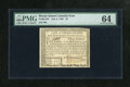 Colonial Notes:Rhode Island, Rhode Island July 2, 1780 $3 PMG Choice Uncirculated 64. Themargins on this issue are solid, though the top is a little thi...