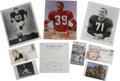 Football Collectibles:Others, Football Stars Signed Ephemera Lot of 39. A total of 39 miscellaneous signed pieces compose this lot of signatures, with a ...