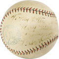 Autographs:Baseballs, 1929 Babe Ruth Single Signed Baseball. A gorgeous OAL (Barnard) ball with contrast stitching and bold stamping holds a charm...