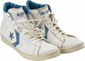 Basketball Collectibles:Uniforms, Early 1980's Michael Jordan Game Worn Sneakers. Before His Airnessbecame the world's greatest athlete, the endorsement kin...