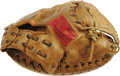 Baseball Collectibles:Others, Late 1970's Johnny Bench Game Worn Catcher's Mitt. We've said itbefore, but it bears repeating--game worn fielder's gloves...