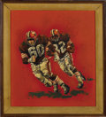 Football Collectibles:Others, 1970's Jim Brown Original Artwork by Gary Thomas. Fantastic early work is by famed sports artist and Cleveland resident Gar...