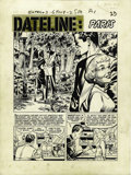 "Original Comic Art:Complete Story, Johnny Craig - Extra #3, Complete 6-page Story ""Dateline: Paris""Original Art (EC, 1955). Johnny Craig's dramatic storytelli...(Total: 6 Items)"
