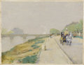 Fine Art - Painting, American:Antique  (Pre 1900), CHILDE HASSAM (American 1859-1935). Banks Of The Seine, 1888 . Oil on canvas. 8-3/4 x 11 inches (22.2 x 27.9 cm). Signed...