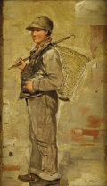 Fine Art - Painting, American:Antique  (Pre 1900), CHARLES PAUL GRUPPE (Canadian 1860-1940). Gilly.