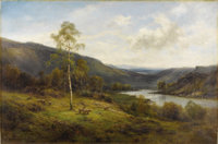 ALFRED DE BREANSKI, SR., A.R.C.A. (British 1852-1928) A Perthshire Valley Oil on canvas 35 x 53 inches (88.9 x 134.6