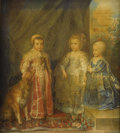 Fine Art - Painting, European:Antique  (Pre 1900), A. GALEOTTI (Italian). Portrait Of The Three Eldest Children OfCharles I (after Sir Anthony Van Dyck), circa 1800-1825...