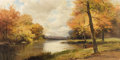 Fine Art - Painting, American:Modern  (1900 1949)  , ROBERT WOOD (American 1889-1979) . Sawkill River, 1964-65.Oil on canvas. 24 x 48 inches (61 x 121.9 cm). Signed lower r...