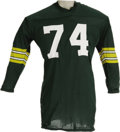 Football Collectibles:Uniforms, 1960's Henry Jordan Game Worn Jersey. Henry Jordan was an All-American at UVA before coming to the Packers from the Browns ...