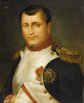Fine Art - Painting, European:Antique  (Pre 1900), V. VARILLAZ (French). Portrait Of Napoleon, 1839. Oil oncanvas. 23-7/8 x 19-3/4 inches (60.6 x 50.1 cm). Signed and dat...