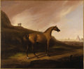Fine Art - Painting, American:Antique  (Pre 1900), Attributed to ALVAN FISHER (American 1792-1863). Napoleon'sHorse, circa 1818-25. Oil on canvas. 24-3/4 x 30-1/4 inches ...