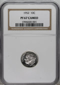 Proof Roosevelt Dimes: , 1952 10C PR67 Cameo NGC. NGC Census: (45/34). Numismedia Wsl. Pricefor NGC/PCGS coin in PR67: $180...