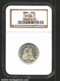 Proof Seated Quarters: , 1884 25C PR 66 NGC. Mintage: 875. ...
