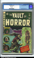 Golden Age (1938-1955):Horror, Vault of Horror #22 (EC, 1951). CGC NM- 9.2 Off-white pages.Overstreet 2001 NM 9.4 value = $365....