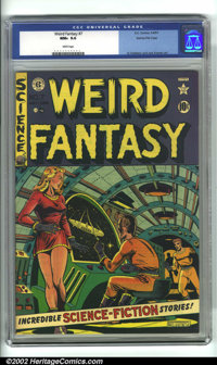 Weird Fantasy #7 Gaines File pedigree 9/12 (EC, 1951). CGC NM+ 9.6 White pages. Overstreet 2001 NM 9.4 value = $410