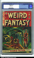 Golden Age (1938-1955):Science Fiction, Weird Fantasy #8 (EC, 1951). CGC NM- 9.2 Off-white to white pages.Overstreet 2001 NM 9.4 value = $410....