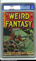 Golden Age (1938-1955):Science Fiction, Weird Fantasy #14 Gaines File pedigree 6/9 (EC, 1952). CGC NM 9.4Off-white to white pages. Frazetta/Williamson art. Overstr...