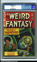 Golden Age (1938-1955):Horror, Weird Fantasy 14 (#2) Gaines File pedigree 7/10 (EC, 1950). CGC NM+9.6 Off-white pages. Overstreet 2001 NM 9.4 value = $900...