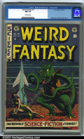 Golden Age (1938-1955):Science Fiction, Weird Fantasy #15 (EC, 1952). CGC 9.4 Off-white pages. Overstreet2001 NM 9.4 value = $330....