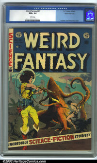 Weird Fantasy #21 Gaines File pedigree 9/12 (EC, 1953). CGC NM+ 9.6 White pages. Frazetta/Williamson cover. Overstreet 2...