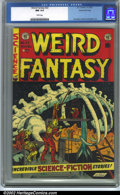 Golden Age (1938-1955):Science Fiction, Weird Fantasy #22 Gaines File pedigree 8/11 (EC, 1953). CGC NM 9.4White pages. Overstreet 2001 NM 9.4 value = $225....