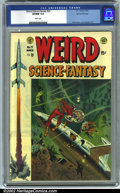 Golden Age (1938-1955):Science Fiction, Weird Science-Fantasy #23 Gaines File pedigree 8/11 (EC, 1954). CGCVF/NM 9.0 White pages. Overstreet 2001 NM 9.4 value = $3...