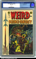 Golden Age (1938-1955):Science Fiction, Weird Science-Fantasy #27 Gaines File pedigree 9/12 (EC, 1955). CGCVF+ 8.5 White pages. Overstreet 2001 FN 6.0 value = $87;...