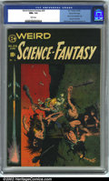 Golden Age (1938-1955):Science Fiction, Weird Science-Fantasy #29 Gaines File pedigree 9/12 (EC, 1955). CGCNM+ 9.6 White pages. Classic Frank Frazetta cover. Last ...