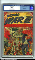 Golden Age (1938-1955):Science Fiction, World War III #1 (Ace, 1953). CGC NM- 9.2 Off-white to white pages.Overstreet 2001 NM 9.4 value = $550....