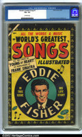 Golden Age (1938-1955):Miscellaneous, World's Greatest Songs #1 (Atlas, 1954). CGC VG+ 4.5 Off-white pages. Overstreet 2001 GD 2.0 value = $40; FN 6.0 value = $12...