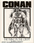 Modern Age (1980-Present):Science Fiction, Conan: The Thing in the Crypt Portfolio by Billy Graham (SalQuartuccio, 1985). Condition: NM, envelope still sealed....