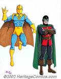Original Comic Art:Miscellaneous, JE Smith - Justice Society (Dr. Fate & Dr. Mid-Nite) OriginalArt (2002). Outstanding full-color illustration of Golden Age ...