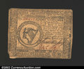 Colonial Notes:Continental Congress Issues, May 9, 1776, $8, Continental Congress Issue, CC-38, VF; corner ...