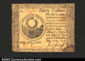 Colonial Notes:Continental Congress Issues, September 26, 1778, $30, Continental Congress Issue, CC-83, VF+...
